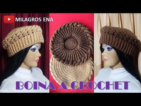 How to Crochet Beret hat (eng sub) press CC for instructions - YouTube
