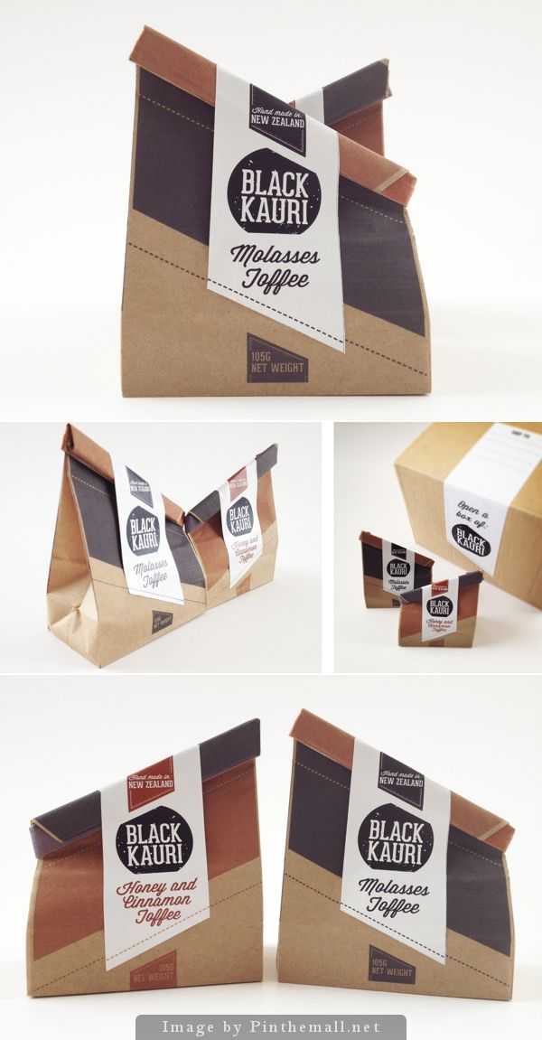 Packaging / toffee in two flavours