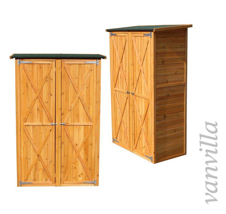 Great Details zu vanvilla Ger teschuppen Gross Ger teschrank Holz Schuppen Hell Gartenschrank