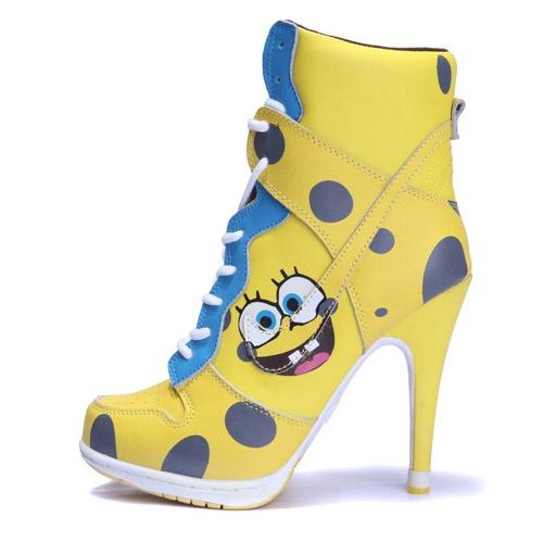 Dependable Nike Dunk SB High Heels Yellow White Blue-jordan heel boots for women