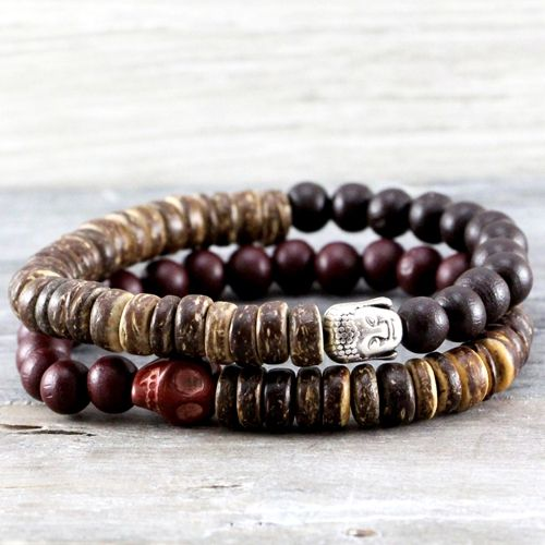 Stoere sieraden met houten kralen, speciaal voor mannen!