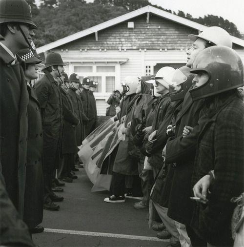 Ans Westra Anti-Springbok Tour Demonstration, Newtown, Wellington, 1981 Silver Gelatin Print 190 x 190 mm