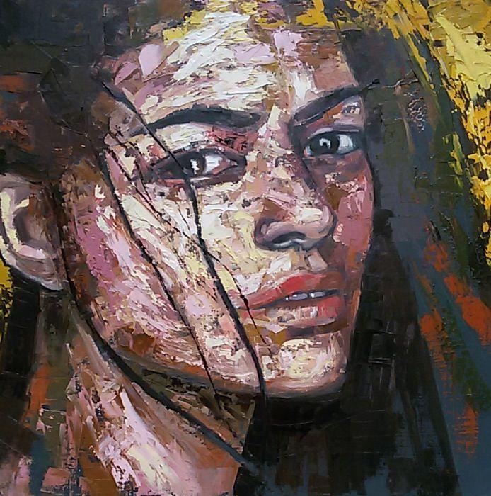 MANCUSO olio su tela 40×40 #vernicearte #fineart #contemporaryart #italianartist