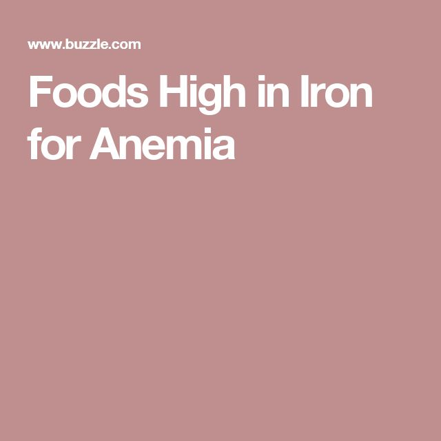 Foods High in Iron for Anemia