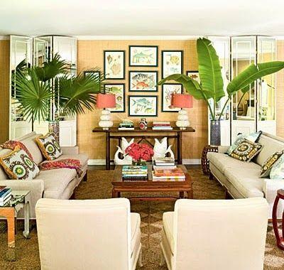 Lush Living with Tropical Living Room Decor