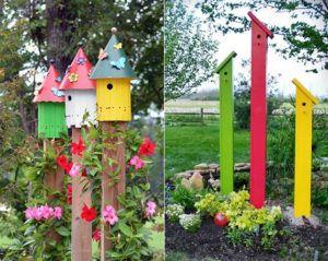 50-Ideen-für-DIY-Gartendeko-und-kreative-Gartengestaltung-mit-vogelhäusern