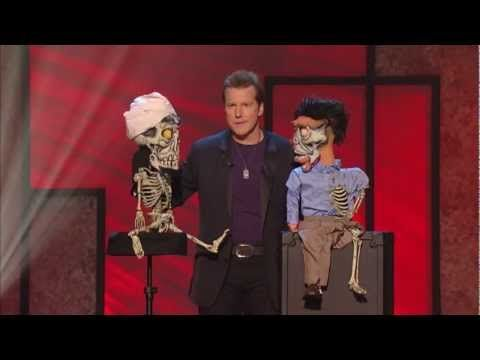 Achmed has a son! An extended clip of Jeff Dunham, Achmed, and Achmed Junior from Jeff's latest stand-up special Controlled Chaos. Silence...…wait for it...…I Keel You!     Get Jeff's latest stand-up special DVD Controlled Chaos: http://amzn.to/ugXn4r    See Jeff and the Gang on Tour: www.jeffdunham.com    Jeff's Very Special Christmas Special D...