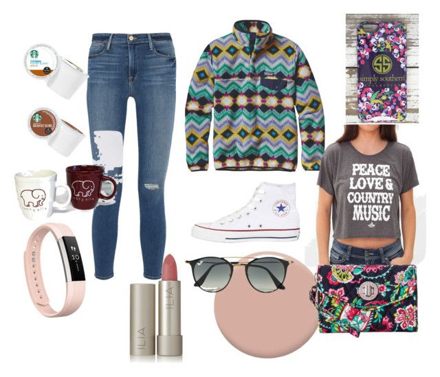 """""""My life"""" by lma91604 ❤ liked on Polyvore featuring Patagonia, Ali Dee Collection, Christian Louboutin, Frame, Converse, Vera Bradley, Ray-Ban, Fitbit, Ilia and Keurig"""