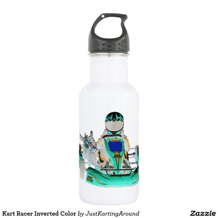 Kart Racer Inverted Color Water Bottle