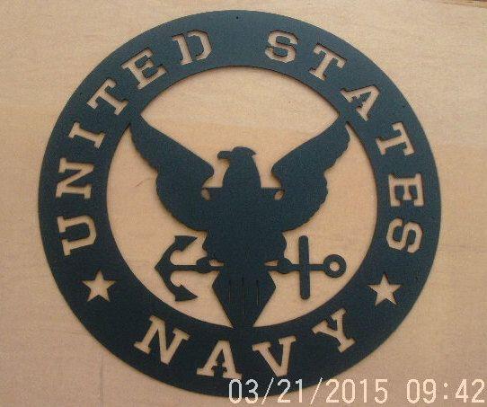 United States Navy Emblem by RobBailorsMetalArt on Etsy https://www.etsy.com/listing/227045190/united-states-navy-emblem