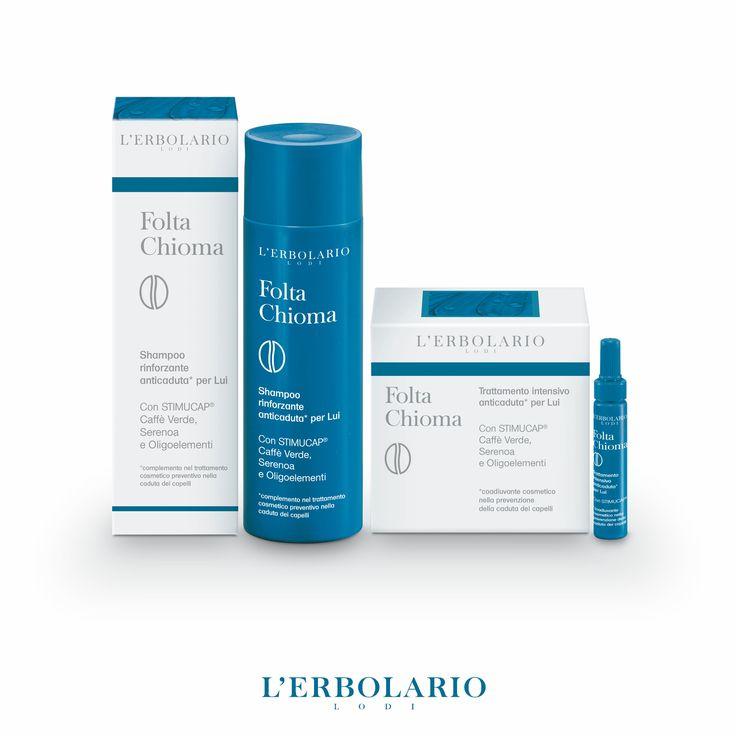 Folta Chioma Per Lui Formule ad efficacia mirata per aiutare a prevenire lo sfoltimento temporaneo dei capelli.