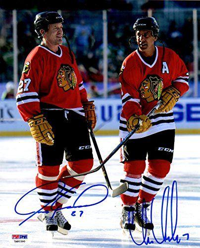 Chris Chelios Blackhawks Autograph