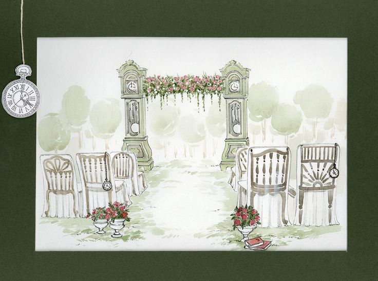 Эскиз к свадьбе. церемония.