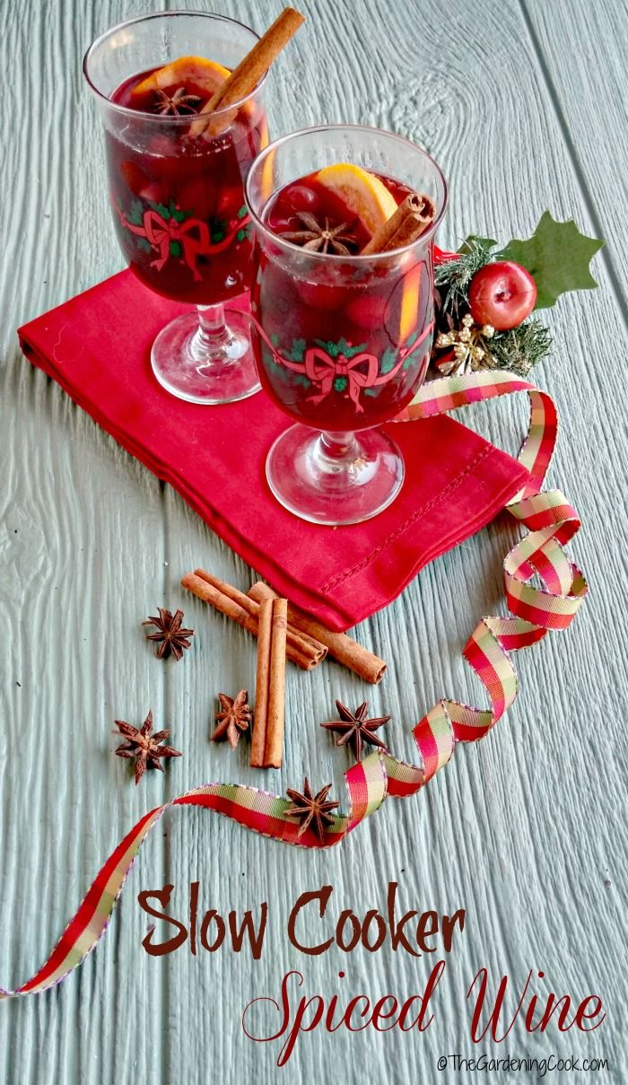 This slow cooker spiced wine has the most amazing flavor. It is perfect for those nights when the cold is nipping at your nose. thegardeningcook.com #HolidayHoneyGranules #ad  @TateLyleSugarUS