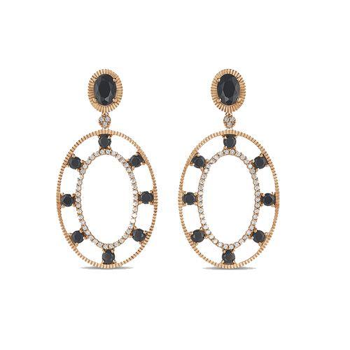 Brinco Ouro Rosé Quartzo Negro E Diamantes Ousadia VIVARA-BR00045755