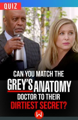 With so much drama and doctors running around, do you remember their dirtiest secrets? Greys Anatomy secrets, Greys Anatomy plot twists, Grey's love, Grey's anatomy quiz, Grey's Anatomy trivia.