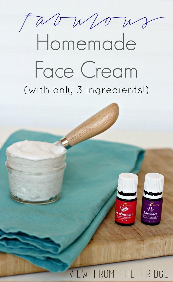 Receta fácil para Casera Crema Facial absolutamente fabuloso. Todo Natural! Via View From The Fridge
