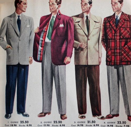 1950s mens sport coats plaid with plaid linings were very common. 1951.