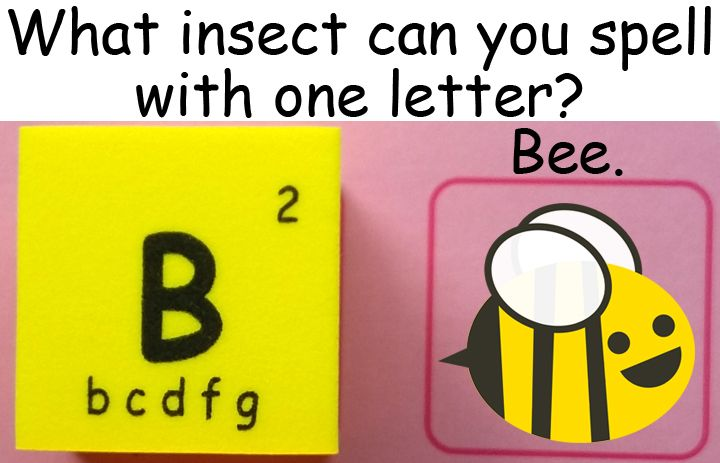 What insect can you spell with one letter Bee bee 蜜蜂