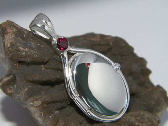 Handcrafted 925 Sterling Silver 4 mm Lab Ruby Locket by gmpjewelry, $69.77