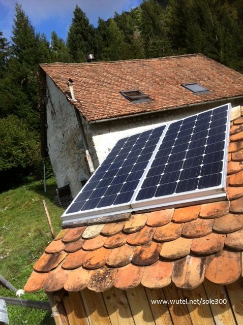 PV DIY in mountain House - http://www.wutel.net/sole300 - Fotovoltaico fai-da-te in baita alpina