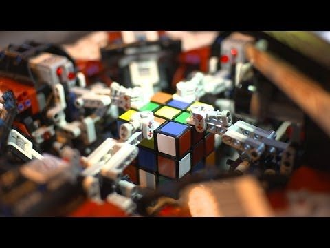 #LEGO #Robot breaks the #Rubik's #Cube #World #Record @Lego