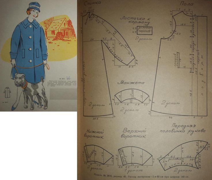 Пальто однобортное, книзу расклешенное.Рукава спереди втачные, сзади - цельнокроенные.