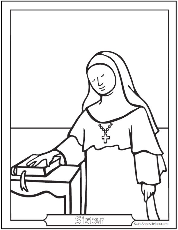Outstanding Saint Agnes Coloring Page Image Collection - Resume ...