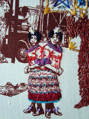the excellently inaccurate embroideries of Richard Saja