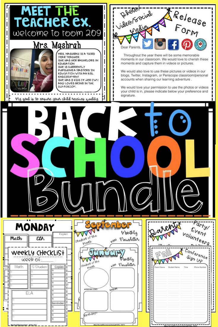 I know how busy we can get as we head back to school and as the school year starts. I have created this product with the BUSY teacher in mind! All you have to do is print and go, it saves you time and energy and everything is in ONE place. Who doesn't love that? 87 Pages of 2 sets Monthly News Letter Templates 3 weekly/ 2 daily sets Checklists  1  5 / 7 day Monthly Calendars Meet the Teacher Welcome Letter Parent Volunteer Forms 2 Social Media Release Form Student Information Form and much…