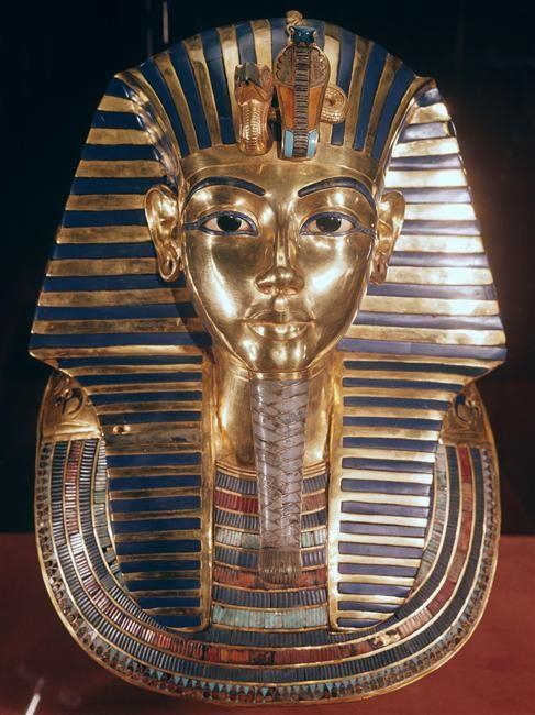 Funerary mask of Tutankhamen.
