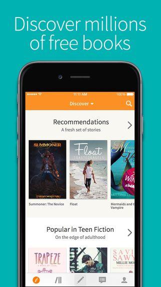 Wattpad - Free Books and eBook Reader - Read Fiction, Romance, Fanfiction stories (via AppCrawlr)