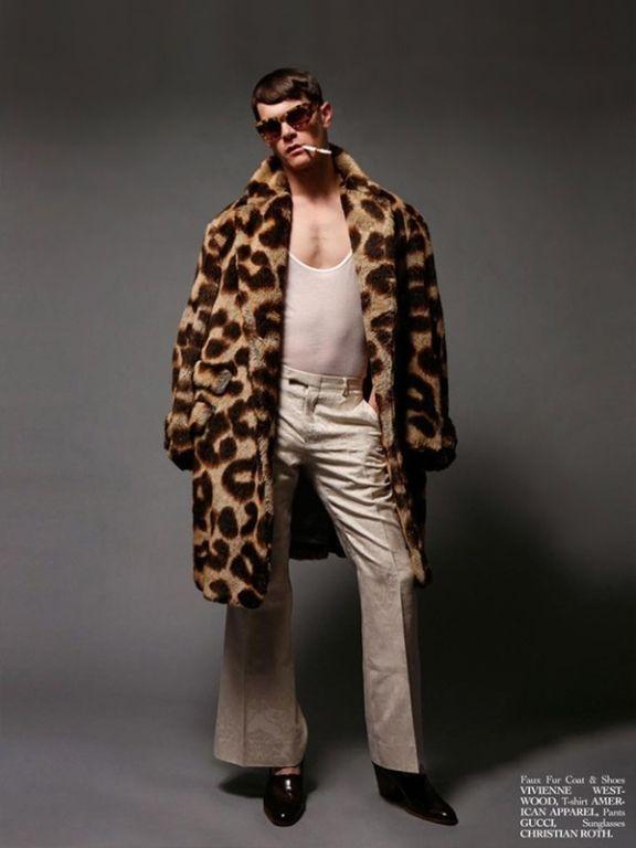 1990s Vivienne Westwood Men's Leopard Print Faux Fur Coat image 7