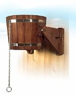 Russian shower - unforgettable oschescheniya after the steam room. Ice water poured from a bucket directly to a hot body.  http://33sv.ru/oborud/kupeli/bentwood.php?pech=7