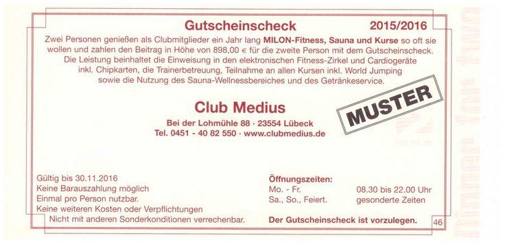 Club Medius Lübeck - Gutschein
