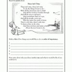 2nd grade Reading, Writing Worksheets: Poems: setting goals | GreatKids