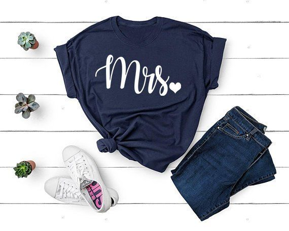 Mrs Tshirt I Said Yes Wifey Shirt Just Married Shirts Gift For Wife Engagement Honeymoon Bride