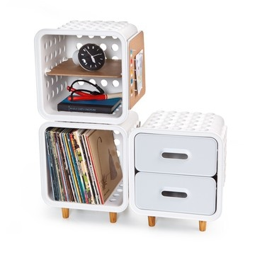 Crates by Quirky  The Reinvention Of The Milk Crate: Storage Solutions, Crates Crates, Crates Modular, Plastic Crates, Storage System, Modular Storage, Book Storage, Milk Crates Storage, Offices Organizations