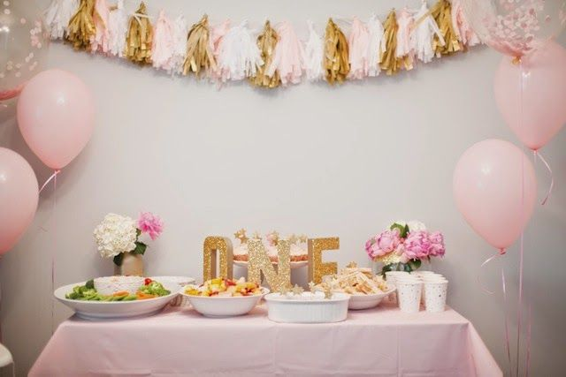 Emerson's Pink & Gold First Birthday Party! #firstbirthdayparty #pinkandgoldbirthdayparty #tablescape