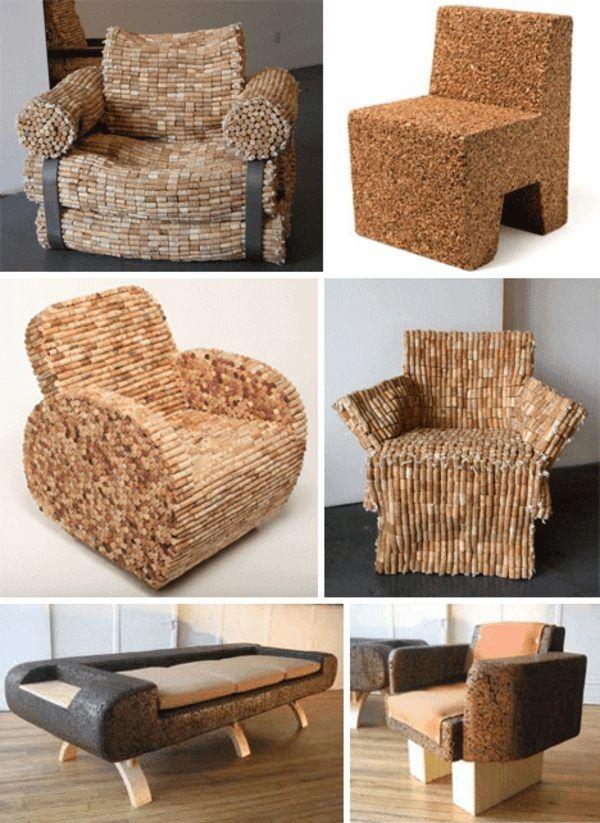 Basteln design Korken sessel stühle