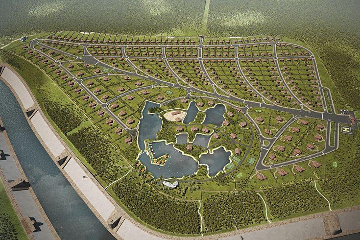 Разработка концепции и визуализация поселка в Астане. Генеральный план.