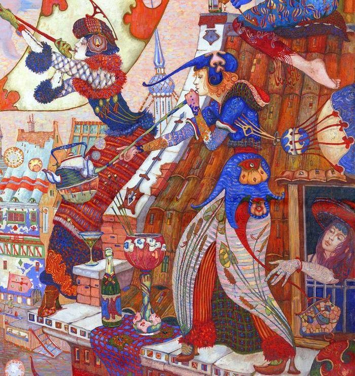 Просмотреть иллюстрацию Тёплый вечер фрагмент в Малеькой Голландии.Фрагмент 4 из сообщества русскоязычных художников автора Фролов Петр в стилях: Живопись, нарисованная техниками: Масло.