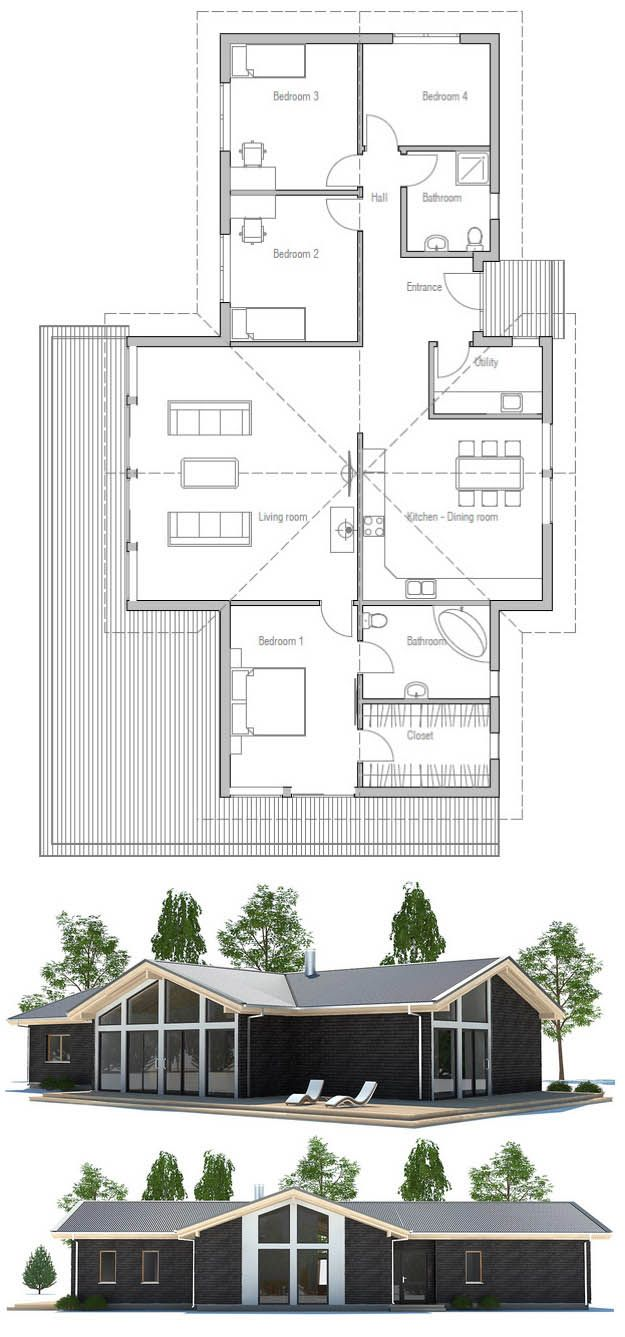 11 best green house plans images on pinterest architecture small house plan floor plan just swap living room with kitchen utility get rid of kitchen wall seperation