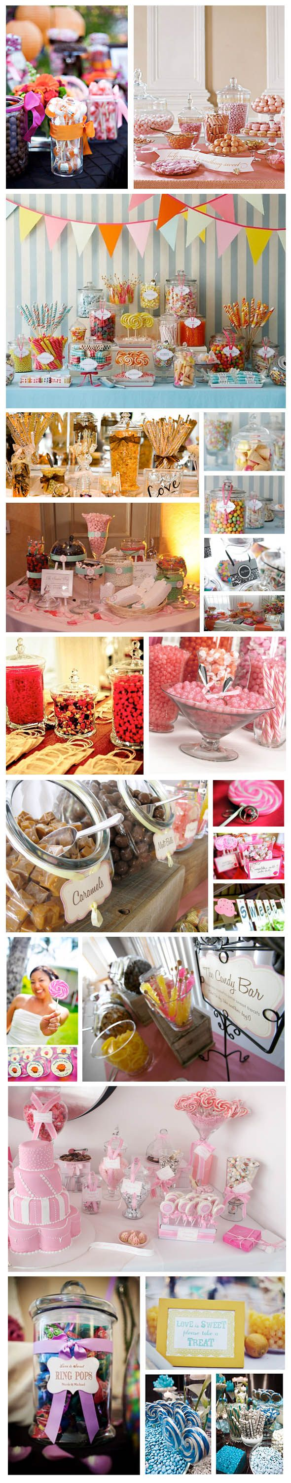 Like this idea! wedding-candy-bar-inspiration. I WILL have a candy buffet/bar at my wedding!