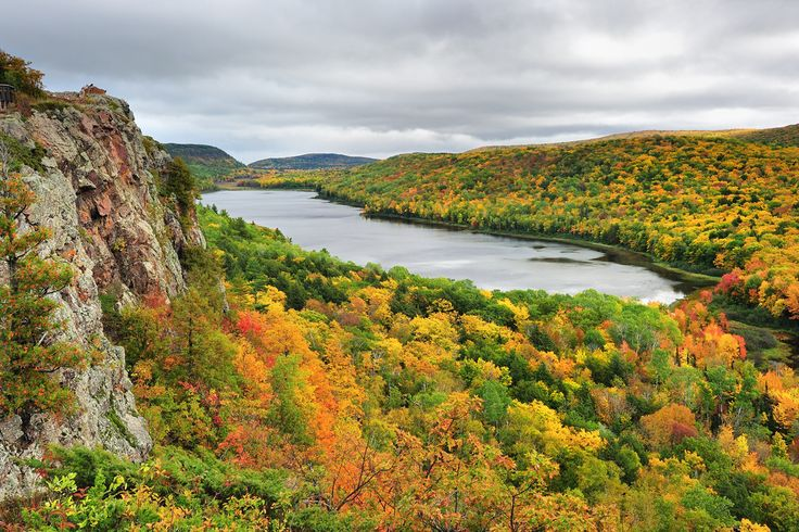 Lake of the Clouds, Porcupine Mountains, Michigan: Clouds, Autumn Photos, Michigan, State Parks, Lakes, U.S. States