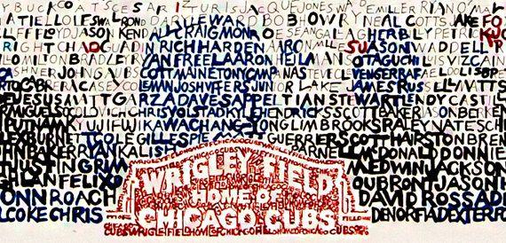Campo de Wrigley Chicago Art Print por LegendarySportsPrint