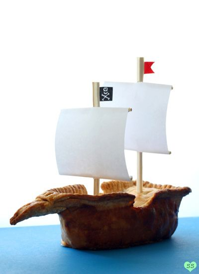 "Amazingly creative!  An Apple Pie-rate Ship!  Susan, you are brilliant, as is your ""diamonds for dessert"" page!"