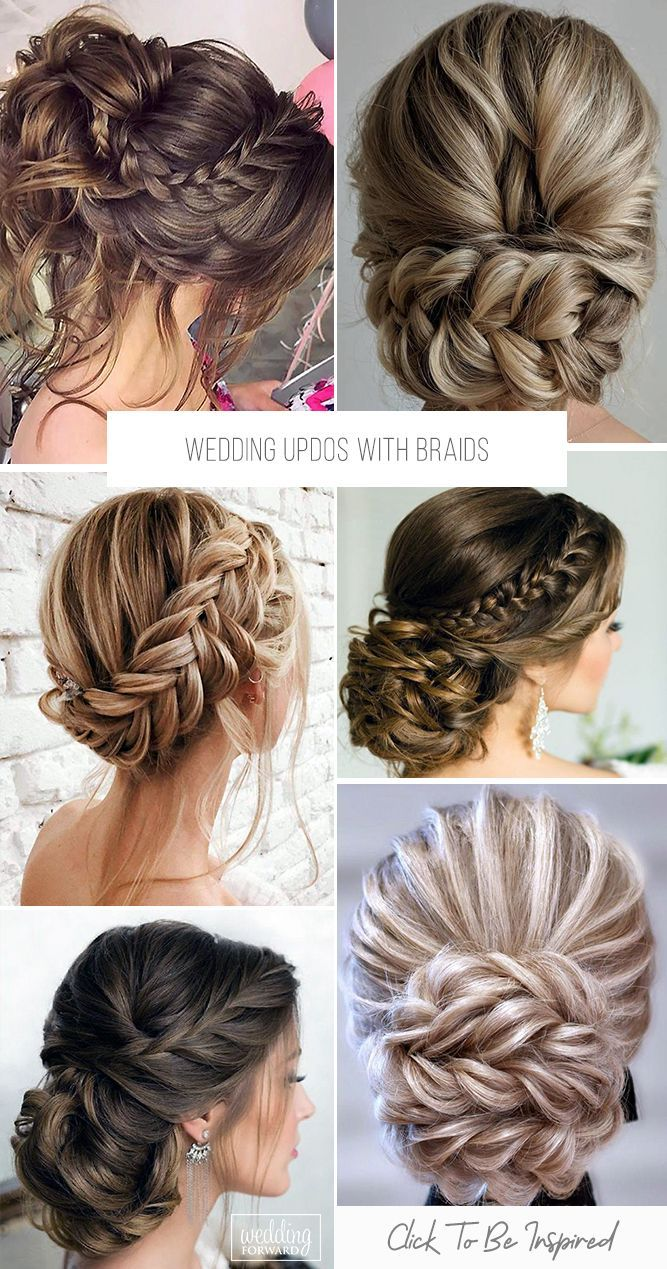 33 Wedding Updos With Braids Wedding Forward Casual Updos For Long Hair Bridesmaid Updo Wedding Hair Pins