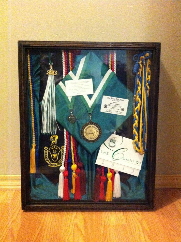 Graduation shadow box display things to make pinterest