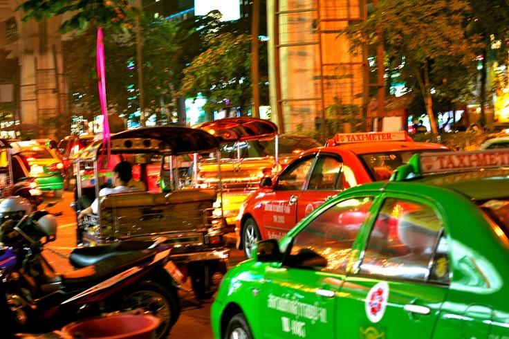 The Silom Road ... downtown Bangkok